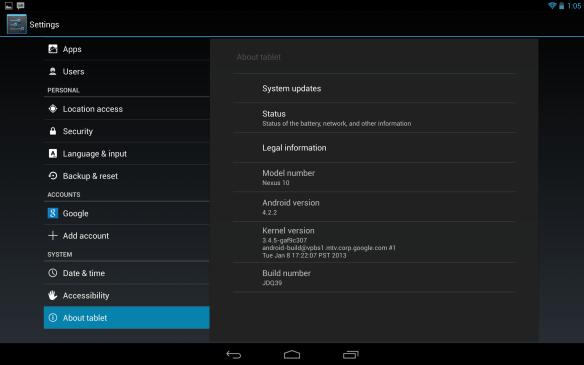 Nexus 10 Firmware