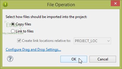 เลือก Copy files