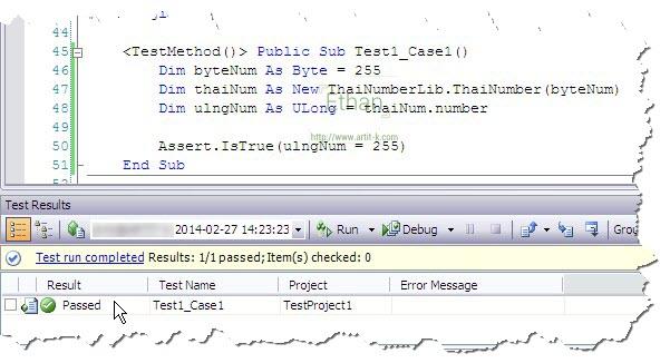 ผลการ Run Test Method
