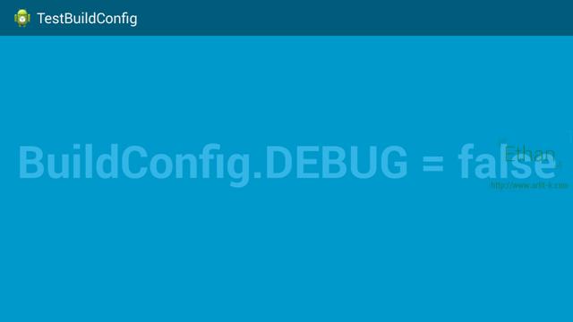 ค่า BuildConfig.DEBUG เมื่อ Build และ Sign แล้ว
