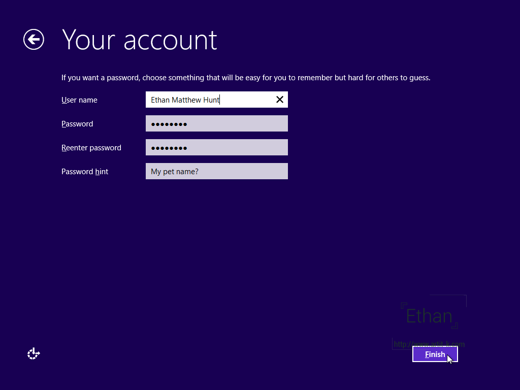 สร้าง Local Account