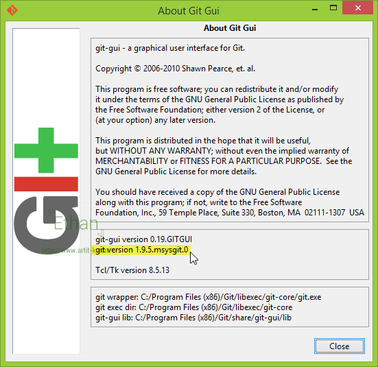 About Git GUI