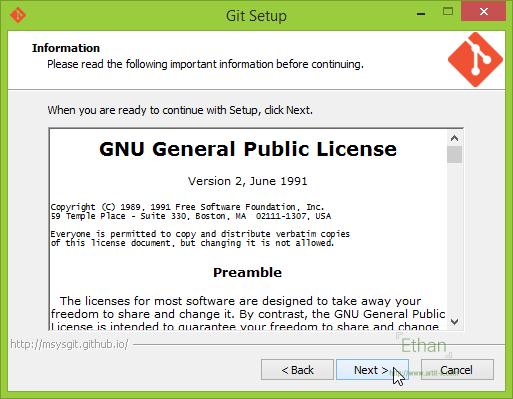 ต่อด้วยข้อมูลเกี่ยวกับ License