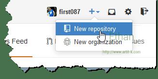 Create New repository บน GitHub