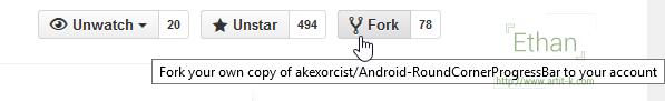 ปุ่ม Fork บน GitHub