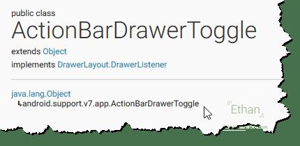 ActionBarDrawerToggle Class จาก Support AppCompat v7