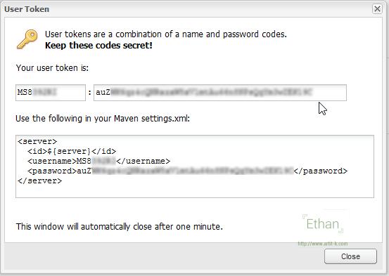 User Token บน OSS Sonatype