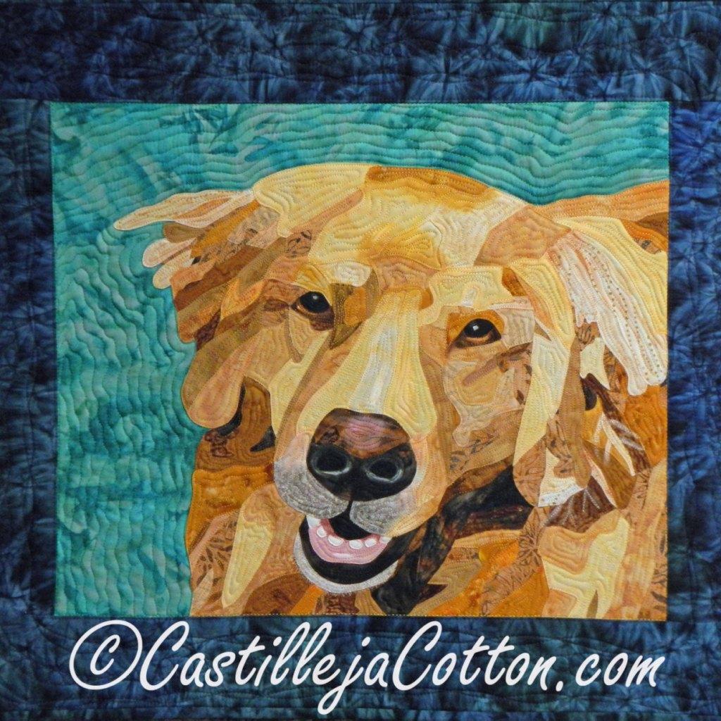 Castilleja Cotton Golden Retriever Quilt