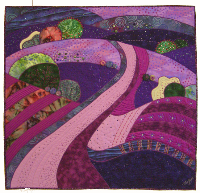 Rose Hughes Art Quilt - Pathways