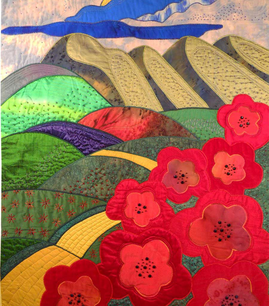 Rose Hughes Art Quilt - Yellow Brick Road