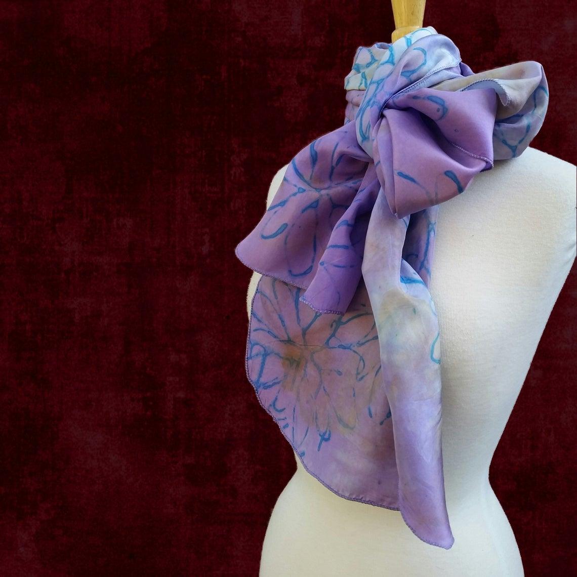 Suite Virginia Habotai Silk Dyed and Printed Scarf