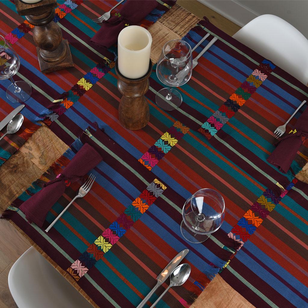 MayaMam Weavers Handwoven Placemats Rich-earthtone-celebration