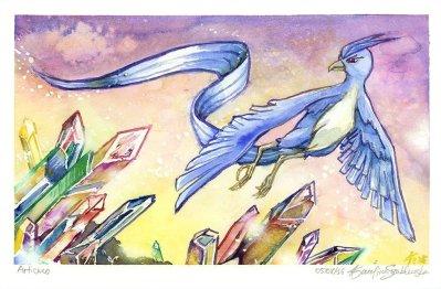 articuno watercolor