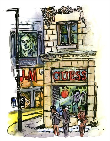 10 Benefits to Painting Outside & Urban Sketching