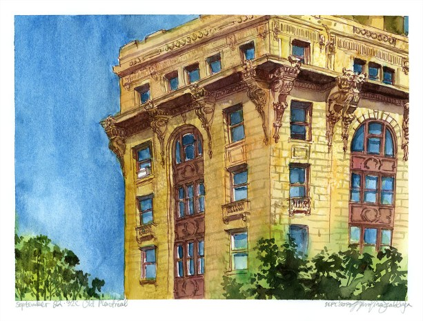 Watercolors of Montreal from Photos