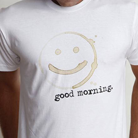 Good Morning Tee Detail White