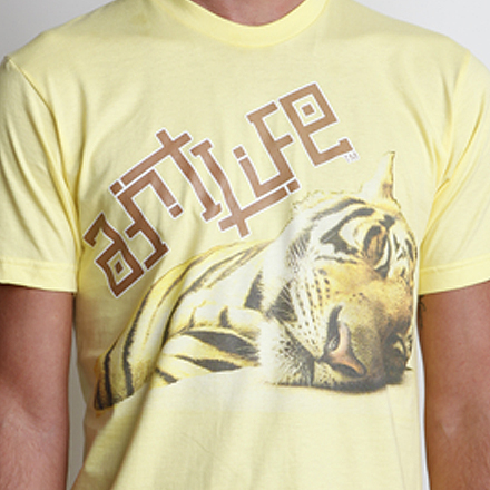 Year of the Tiger Tee Detail Lemon