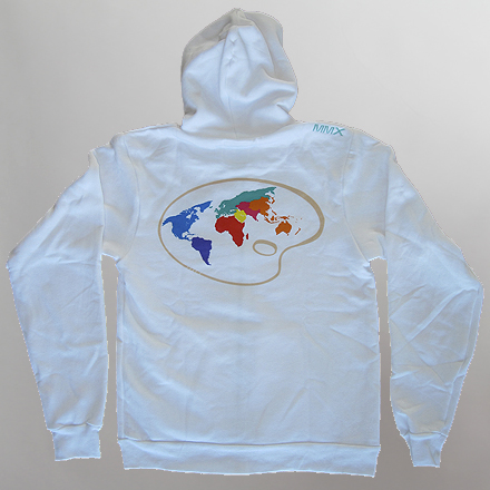 Paint the World Womens Hoodie White Back