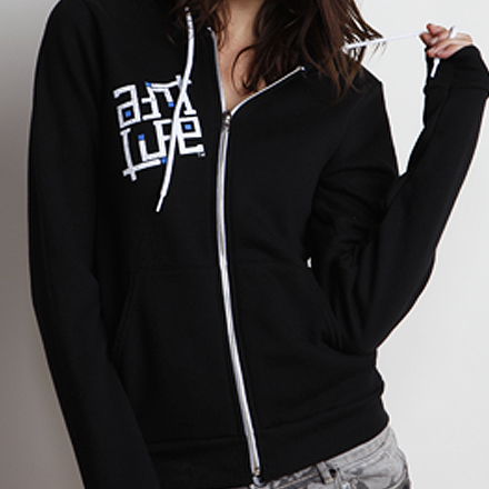 Skullmate Womens Hoodie Black Detail Back
