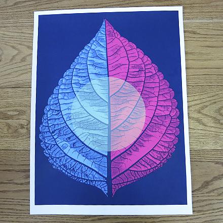 Leaftones Print - Blue