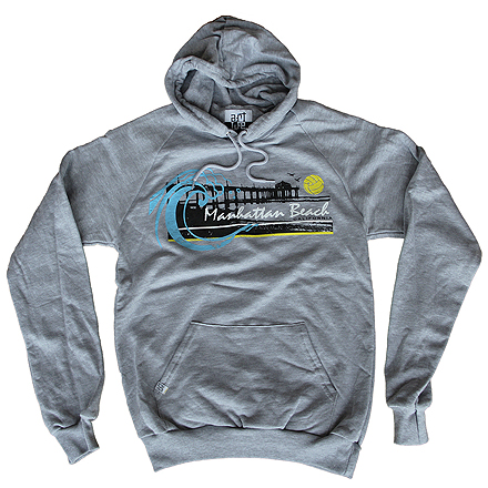 Manhattan Beach Heather Hoodie (Grey)