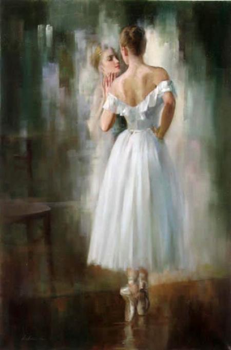 balerina la oglinda