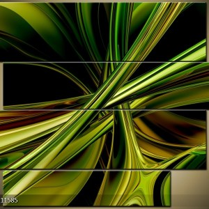 Abstract canvasschilderij 000240 – groen