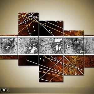 Abstract canvasschilderij 004852 – abstract bruin zilver