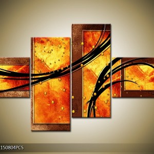 Abstract canvasschilderij 004867 – Vurig