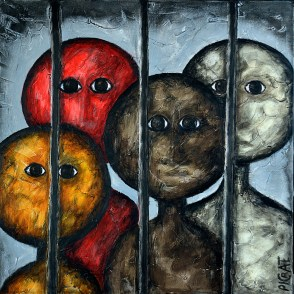 """United Colours of Oppression"""" série Entités I Painting by Picrate 