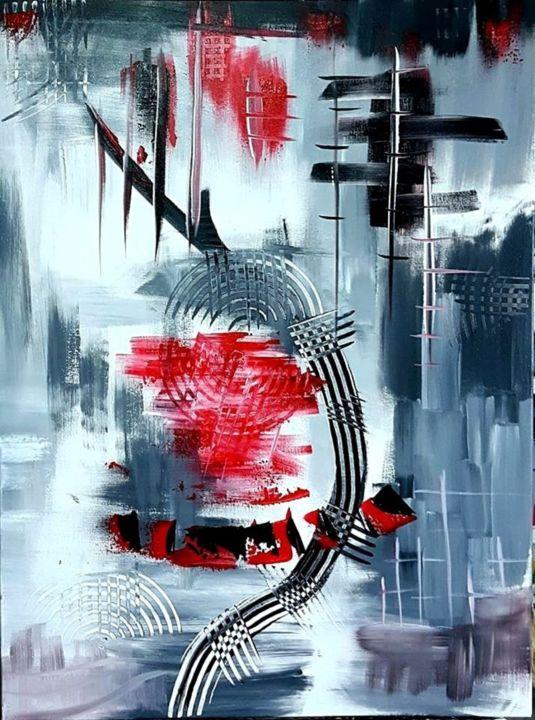 things tableau abstrait moderne