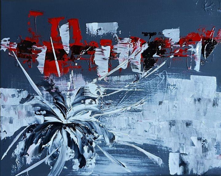 gris rouge peinture acrylique moderne