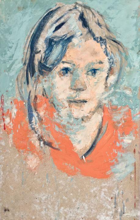 portrait contemporain peinture tableau