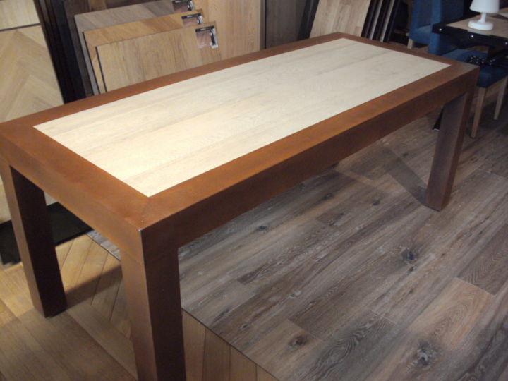 table industrielle bois metal rouille