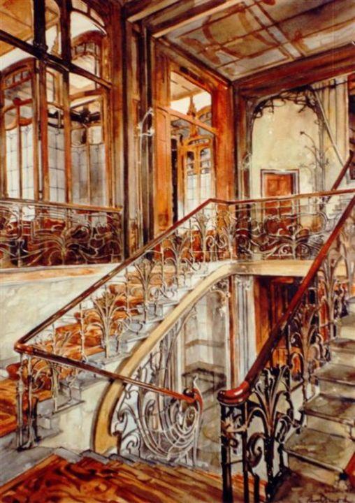 Cage Descalier Htel Solvay Bruxelles Paul Dmoch
