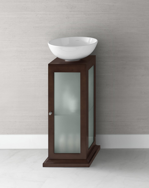 the size of small pedestal sink