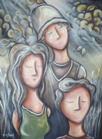 """""""Cet automne"""" Huile sur toile 2011"""