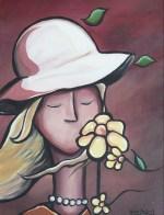 """""""Fleurs de vent"""" Acrylique sur toile 12 x 16. 2009"""