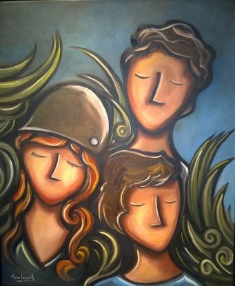 La quiétude, huile et acrylique sur toile 20 x 24, 2012