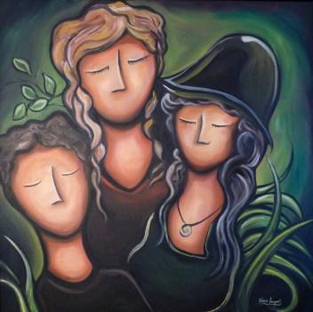 L'espérance, huile et acrylique sur toile 24 x 24, 2012