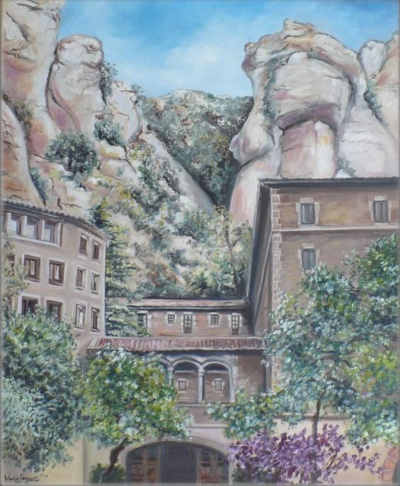 """""""Montserrat"""" Huile sur toile 24 x 30. 2012"""