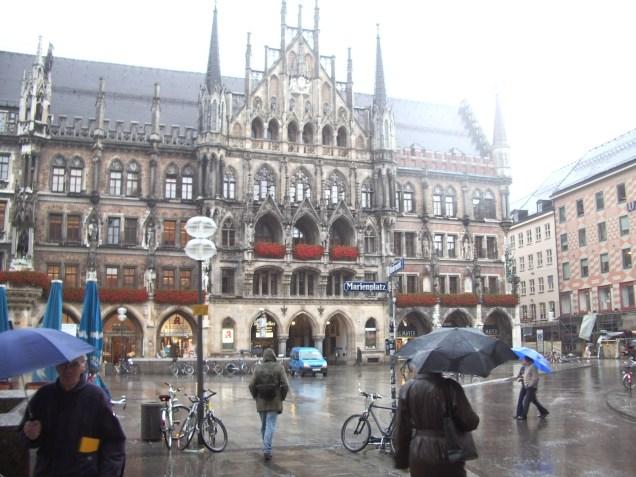 Munich sous la pluie