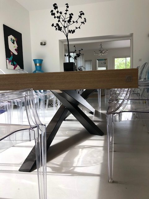 pied de table metal mikado