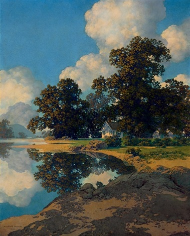 Sheltering oaks by Maxfield Parrish on artnet
