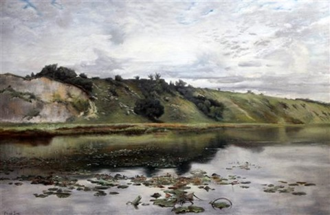 waterlilies on a sussex river by edward stott