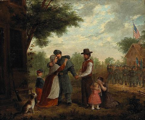 A sad farewell Civil War scene by Alfred A. Hart on artnet