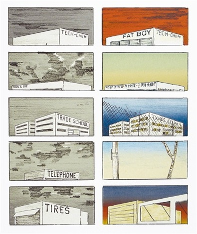 Image result for ed ruscha course of empire