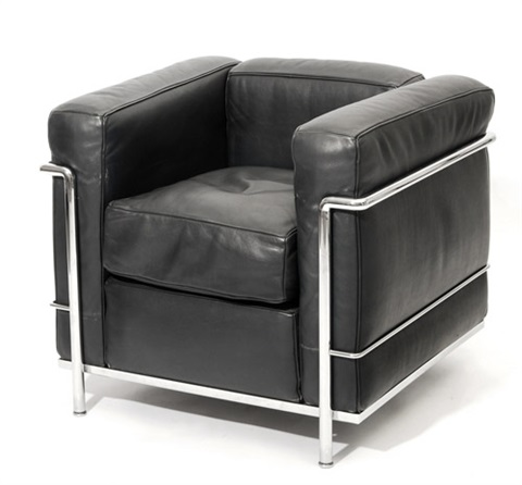 fauteuil grand confort lc2 by le corbusier charlotte perriand and pierre jeanneret
