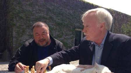 Ai Weiwei Learns Chess from Duchamp