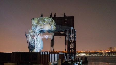 Tony Oursler Conjure Public Art New